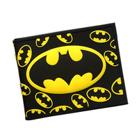 Batman Series Cartoon Wallet The Avengers Super Hero Batman Wallet For Teen Boy Girls Leather Purse Card Holder DC Comics Wallet