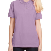 LE3NO PREMIUM Womens Sports Short Sleeve Cotton Pique Polo Shirt