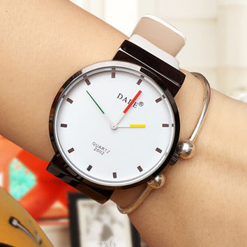 High-quality Men Women Leather Strap Watch Lover Watches + Christmas Box-68