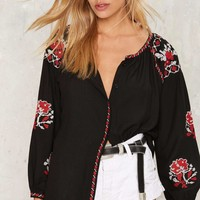 Thread Lightly Embroidered Blouse