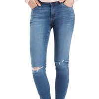 Topshop Moto 'Leigh' Ripped Skinny Jeans (Mid Denim) | Nordstrom