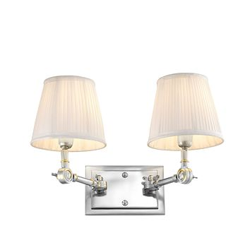 Double Silver Wall Lamp | Eichholtz Wentworth