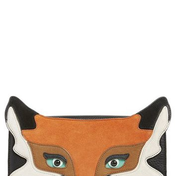 kate spade new york 'blaze a trail - fox' clutch - Black