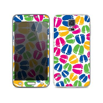 The Colorful Vector Footprints Skin For the Samsung Galaxy S5
