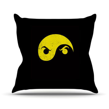 "Frederic Levy-Hadida ""Yin Yang Ninja"" Outdoor Throw Pillow"