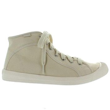 VONES2C Palladium Flex Lace Mid - Ivory Canvas High Top Sneaker