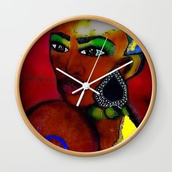 MRS AFRICA Wall Clock by violajohnsonriley