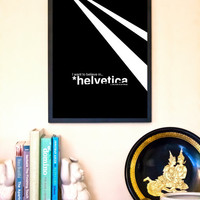 """The X-Files: 11""""x17"""" Helvetica Typography Inspired Movie Poster"""