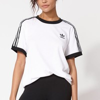 adidas Adicolor White and Black 3-Stripes T-Shirt at PacSun.com