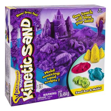 Kinetic Sand Sandbox & Molds (Colors May Vary)