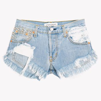 Sneek Peek Light Studded Cut Off Shorts