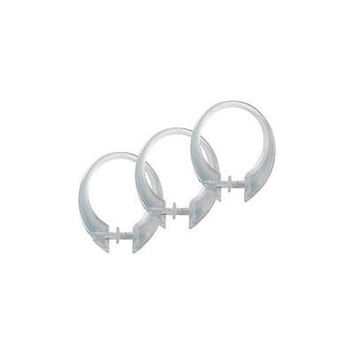 Excell Button-Up Shower Curtain Hooks, Set Of 12 Clear