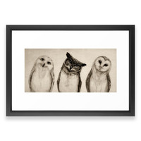 Society6 The Owl's 3 Framed Print