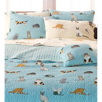 King Kitten Caboodle Quilted Bedding Set | Quilts & Quilt Sets
