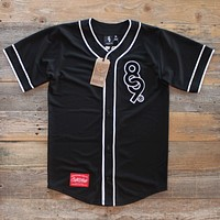 Keys Luxe Black Baseball Jersey
