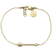 Michael Kors Gold-Tone Crystal Pavé Arrow Bracelet