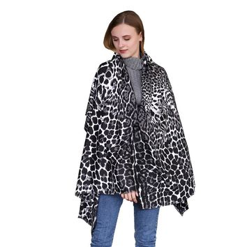 Feitong Leopard Printed Scarf Newly Design Fashion Long Soft Animal Shawl Scarf Wraps Bandana Foulard