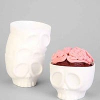 Nom Skulls Cupcake Mold Set- White One
