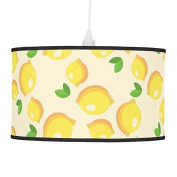 Lemon Pattern Pendant Lamp