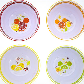 Disney Parks Mickey Mouse Icon Citrus Bowls Set of 4 New with Box