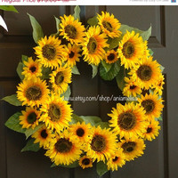 WREATHS ON SALE summer wreath welcome fall wreath door Xl sunflower wreath front door wreaths decoration fall decor housewares wreaths Sale