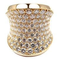 Cartier Chalice Large Diamond Gold Cocktail Ring