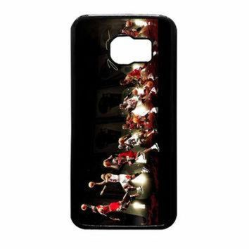 CREYUG7 Michael Jordan NBA Chicago Bulls Dunk Samsung Galaxy S6 Case