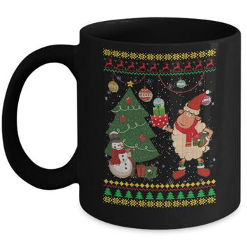Funny Sheep Lamb Christmas Cute Family Ugly Sweater Mug