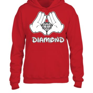 Mickey Mouse Diamond Hands  - UNISEX HOODIE