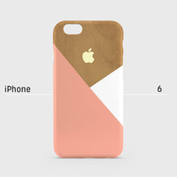 iPhone case - Peach  layered wood pattern - iPhone 6 case, iPhone 6 Plus case, iPhone 5s case, iPhone 5 case, iPhone 4s case non-glossy