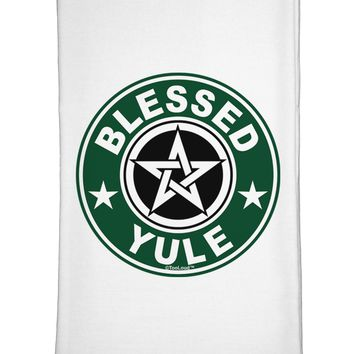 Blessed Yule Emblem Flour Sack Dish Towels by TooLoud