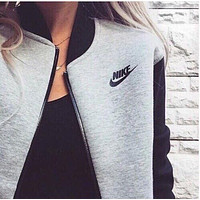 "Fashion Women ""NIKE"" Zip Cardigan Jacket Coat F"
