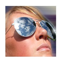 Aviator 70's Style Classic Full Mirror Chrome Silver Sunglasses Real Glass Lens