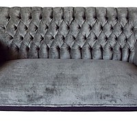 Antique Swedish Tufted Setee - One Kings Lane - Vintage & Market Finds - Furniture