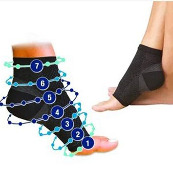 Foot Angel Compression SLEEVE Plantar Fasciitis Anti Fatigue Men's Ankle Brace Sock
