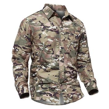 Hiking Shirt camping Refire Gear Removable Outdoor Camouflage Shirt Men Summer Detachable Sleeve Shirts Spring Hiking Camping Breathable Shirt KO_17_1