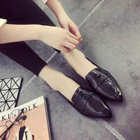 Casual Leather Slip-On Shoes