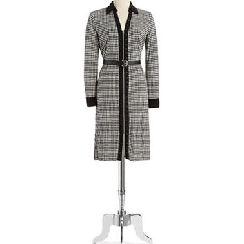 Michael Michael Kors Houndstooth Zipper Dress