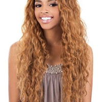 "BeShe 2"" Deep Lace Front Wig - LACE-304 (SUPER LOOSE CURL 29"") (1B - OFF BLK)"