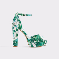 Olivarra Light Green Women's Platform sandals | ALDO US