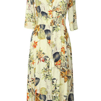 Cupshe Garden Gathering Leaves Plunging Dress