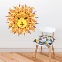 Full Color Full Color Wall Decal Mural Sticker Bedroom Living Room Poster Decor Art  Sun Moon Day Night  (Col705)