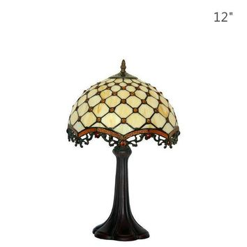 Tiffany Art Deco Yellow Warm Table Lamp
