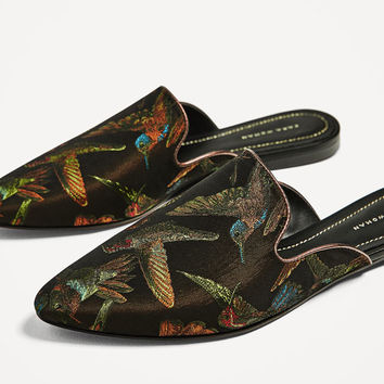 EMBROIDERED SLINGBACK SHOESDETAILS