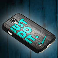 NIKE Just do it wood colored mint darkwood on iphone 5s case, iphone 5c case, iphone 4s case, and samsung s3, samsung s4 cases tocoolcase