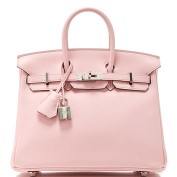 Hermes 25cm Rose Sakura Swift Leather Birkin | Moda Operandi