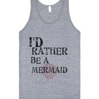 Be A Mermaid-Unisex Athletic Grey Tank