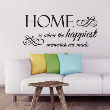 Home is where - family wall decal - wall decals - wall decal stickers - wall stickers - wall decal quotes - wall art - wall decor