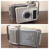 Midcentury Polaroid J-33 Land Camera Vintage Polaroid Instant Film Camera Collapsable Polaroid