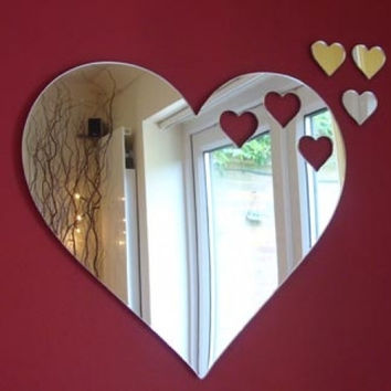 Hearts out of Heart Mirror 35cm x 30cm